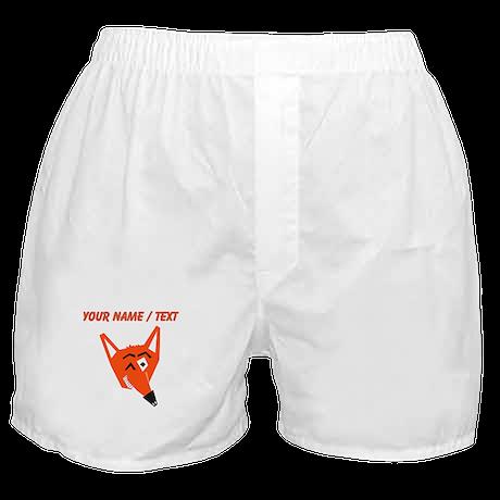 Custom Winking Fox Boxer Shorts