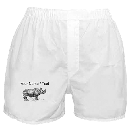 Custom Rhino Sketch Boxer Shorts