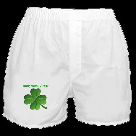 Custom Green Shamrock Boxer Shorts