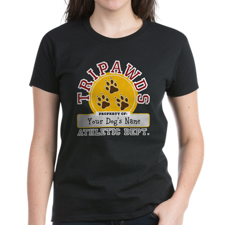 Tripawds Athletic Dept. Women's Dark T-Shirt