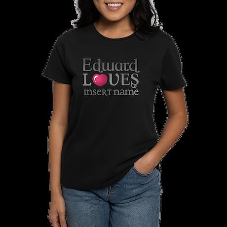 Edward Loves Women's Dark T-Shirt