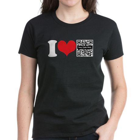 QR Custom I Heart Women's Dark T-Shirt