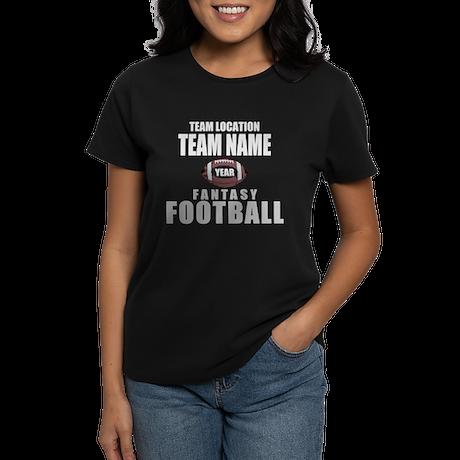 Your Team Fantasy Gray Women's Dark T-Shirt
