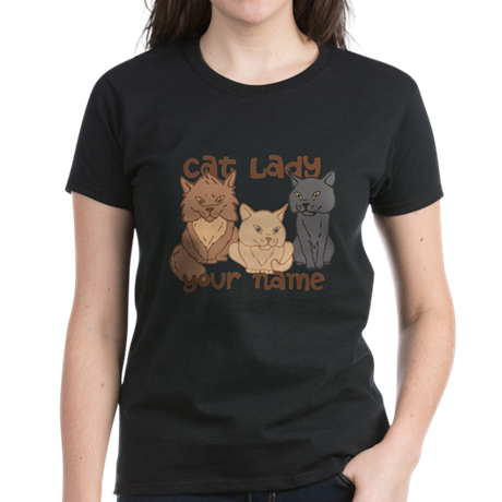 Personalized Cat Lady T-Shirt