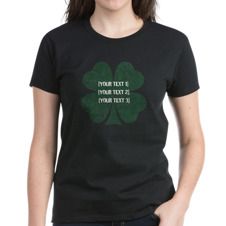 [Your text] St. Patrick's Day Women's Dark T-Shirt