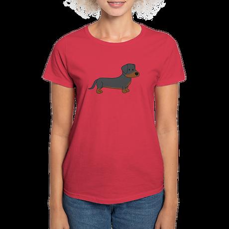 Cute Dachshund Women's Dark T-Shirt