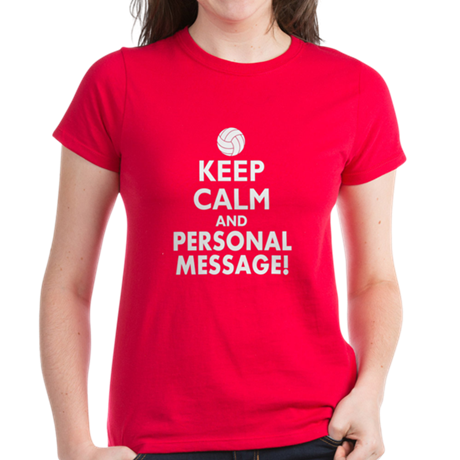 Personalized Keep Calm Volleyball Women's Dark T-S