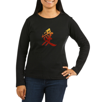Kanji Love Women's Long Sleeve T-Shirt - Kanji Tee