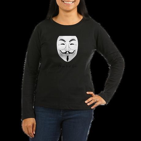 V for Vendetta Women's Long Sleeve Dark T-Shirt