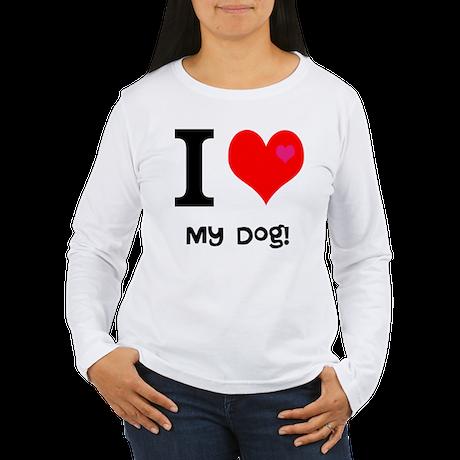 Personalised I Love... Women's Long Sleeve T-Shirt