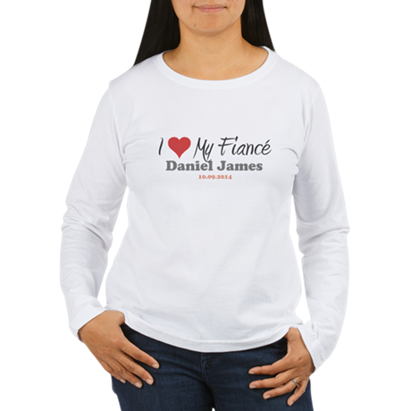 I Heart My Fiancé Women's Long Sleeve T-Shirt