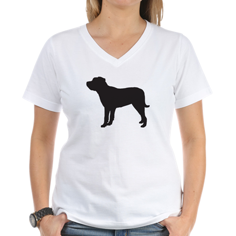 Mastiff Women's V-Neck T-Shirt