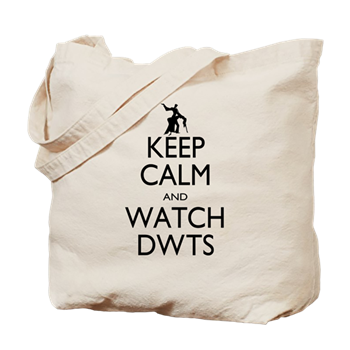 keep calm dwts tote bag