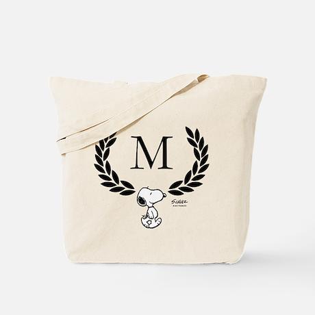 Personalize Snoopy Monogram Tote Bag