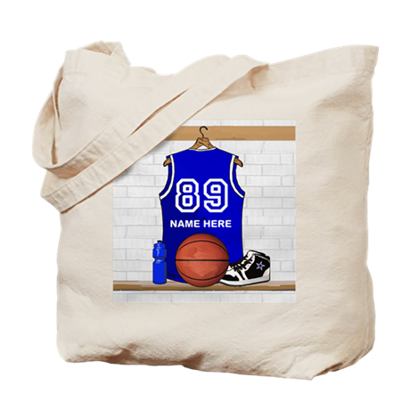 Personalized Basketball Jerse Tote Bag