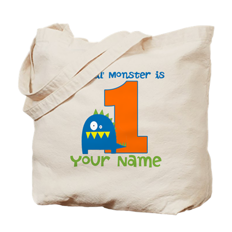 First Birthday Monster Tote Bag