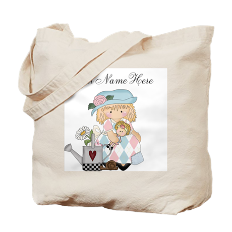 Personalized Garden Girl Tote Bag