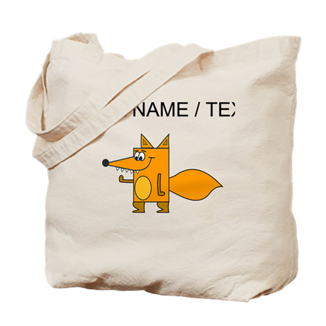 Custom Cartoon Red Fox Tote Bag