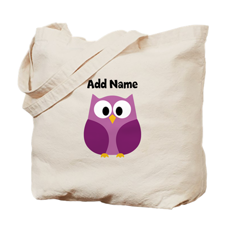 Modern Owl Purple Tote Bag