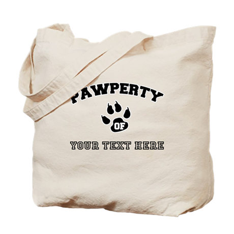 Personalized Cat Pawperty Tote Bag by cafepets
