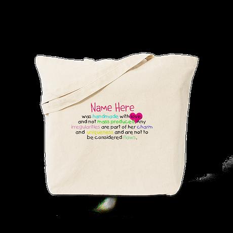 Customised Handmade With Love Tote Bag