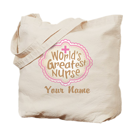 Personalized World's Greatest Nurse Tote Bag