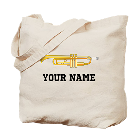 Personalized Trumpet Tote Bag