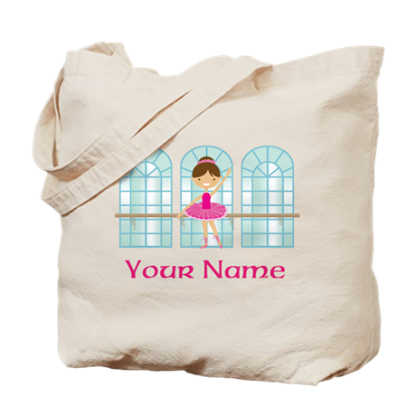 Customized Pink Ballerina Tote Bag