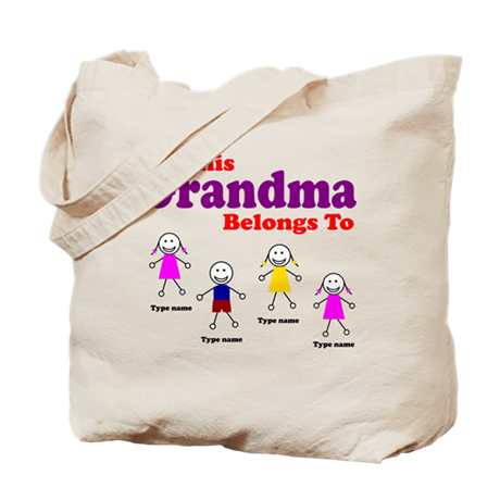 This Grandma Belongs 4 kids Tote Bag