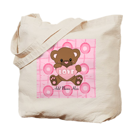 Personalized Cute pink valent Tote Bag