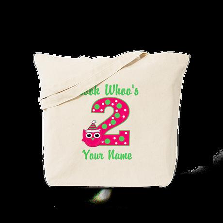 2nd Birthday Girl Owl Tote Bag