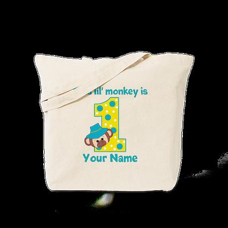 1st Birthday Monkey Boy Tote Bag