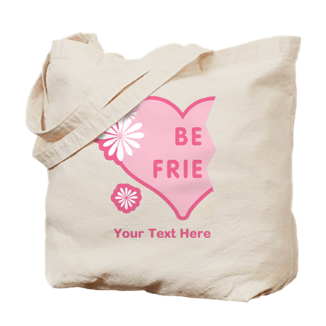 CUSTOM TEXT Best Friends (left half) Tote Bag