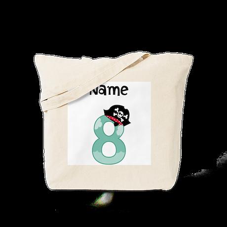 Pirate Eighth Birthday Tote Bag