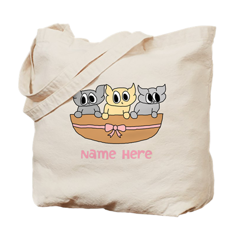 Kittens and Custom Text. Tote Bag