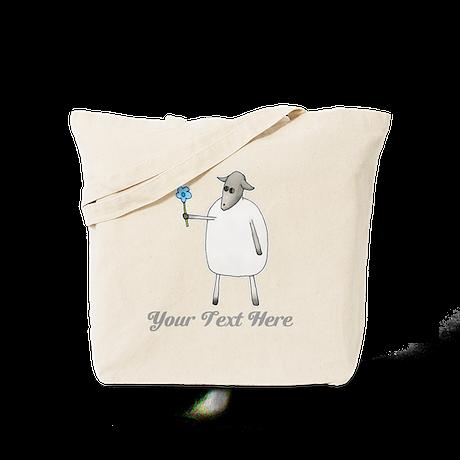 Sheep and Custom Text. Tote Bag