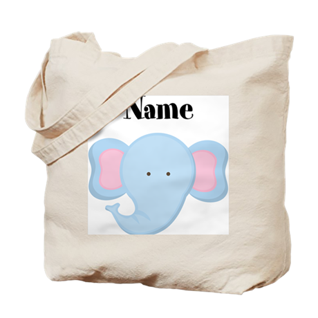 Personalized Elephant Tote Bag