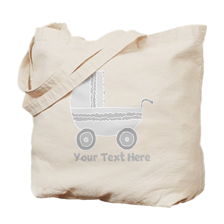Gray Stroller and Text. Tote Bag