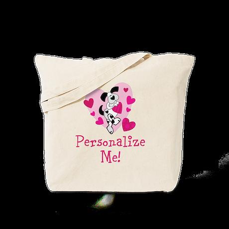 Valentine Puppy Tote Bag