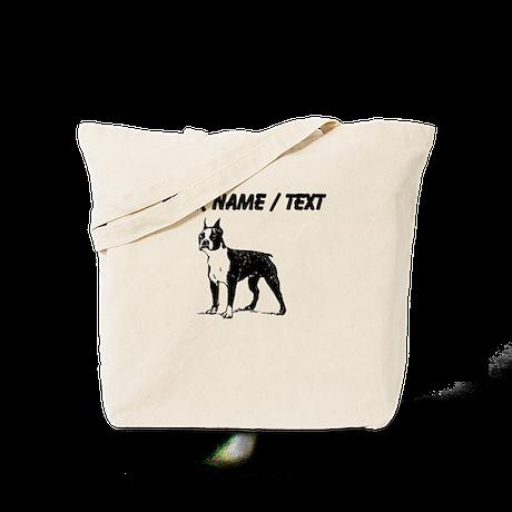 Custom Boston Terrier Sketch Tote Bag