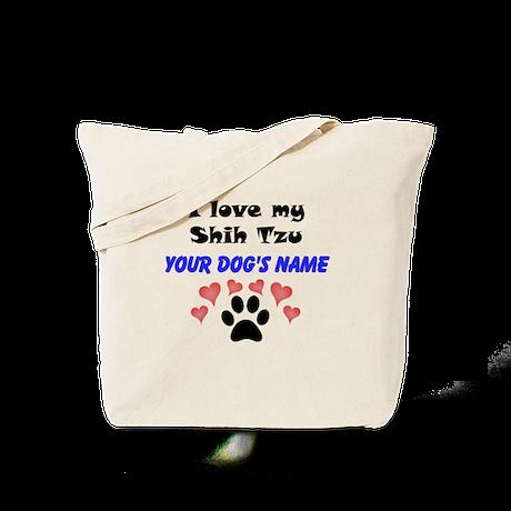 Custom I Love My Shih Tzu Tote Bag