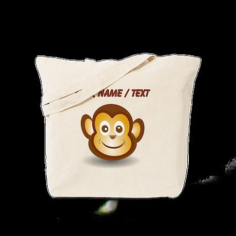 Custom Monkey Face Tote Bag