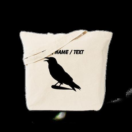 Custom Black Crow Silhouette Tote Bag