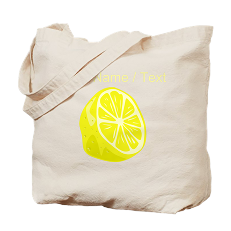 Custom Sliced Lemon Tote Bag