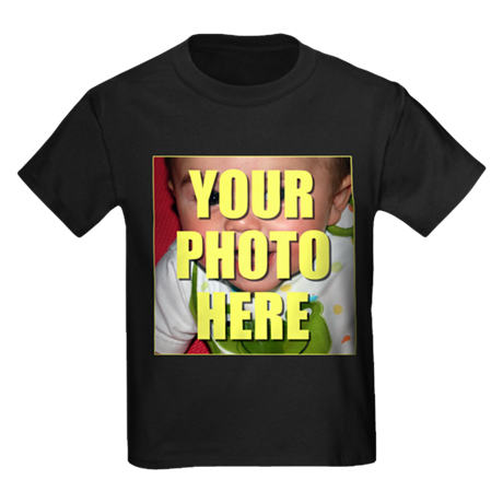 Custom Photo Kids Dark T-Shirt