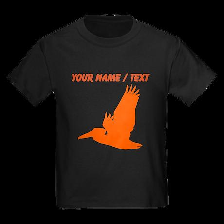 Custom Orange Pelican Silhouette T-Shirt