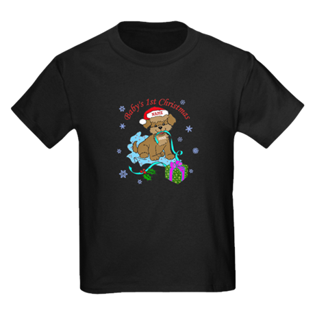 Baby's 1st Christmas Kids Dark T-Shirt