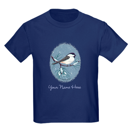 Chickadee Oval Kids Dark T-Shirt