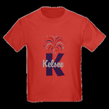 4th of July Fireworks letter K T-Shirt