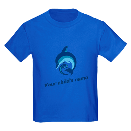Dolphin Personalized Kids Dark T-Shirt